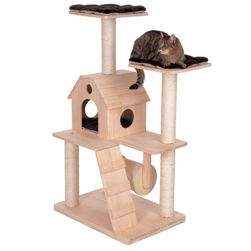 arbre a chat bois maison echelle