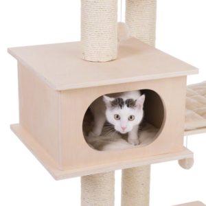 chat intérieur niche arbre