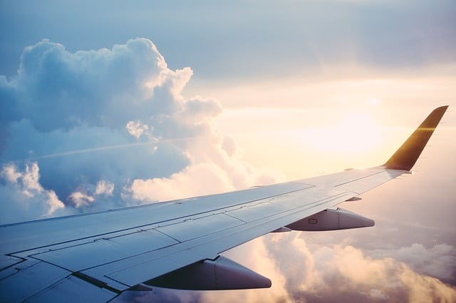 aile avion nuage