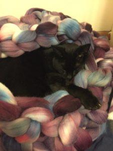 coussin laine usa couleur mélangées