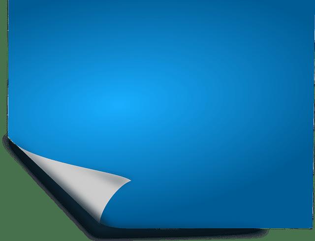 etiquette bleue