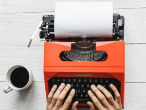 machine à écrire café bureau
