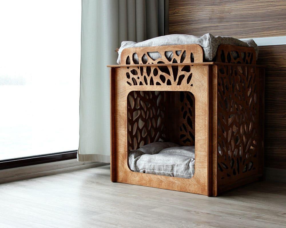 niche carrée bois motifs design