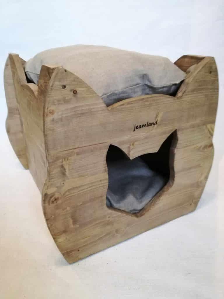 niche design cube bois
