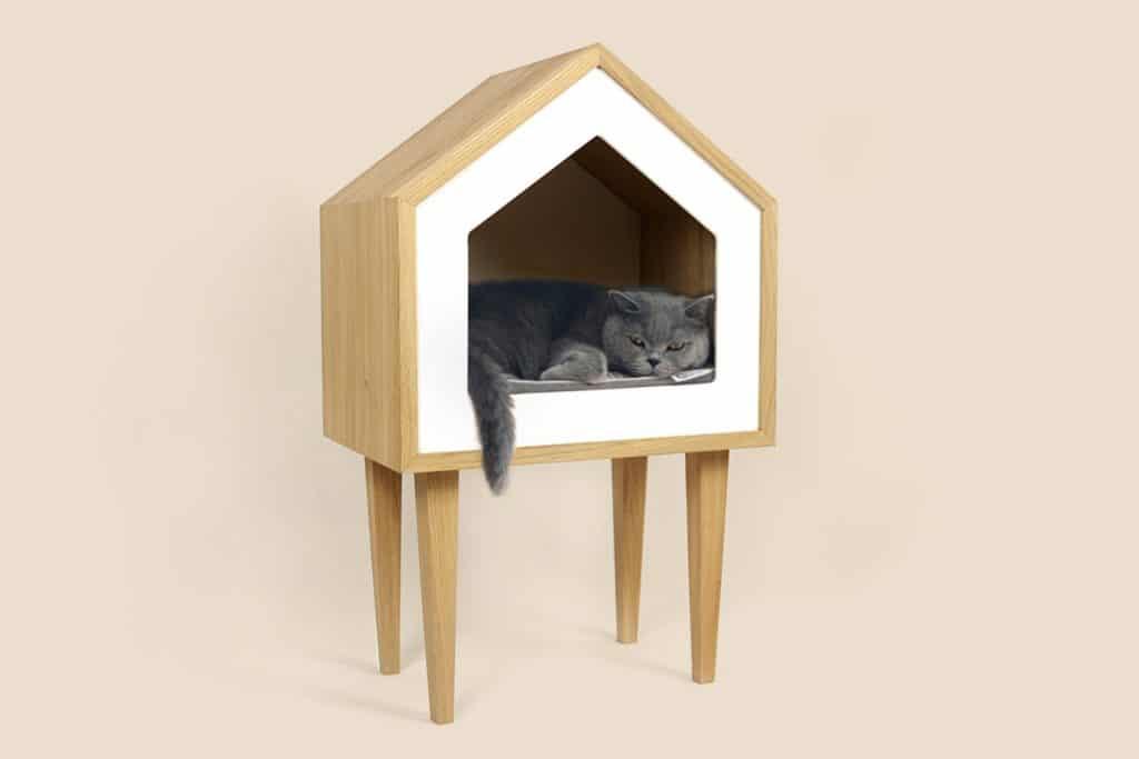 niche maison toit bois