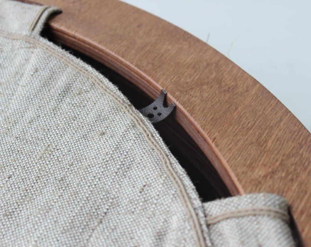 tissu toile hamac bois