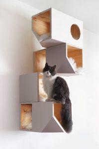 arbre à chat artisanal suspendu