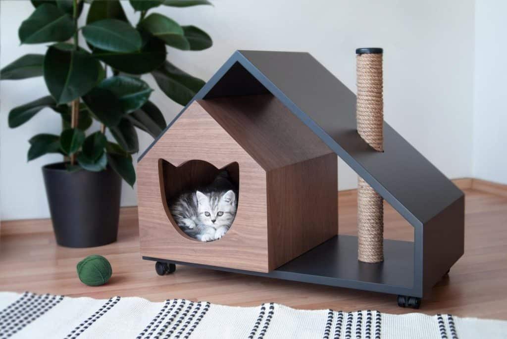 niche chat maison roulettes