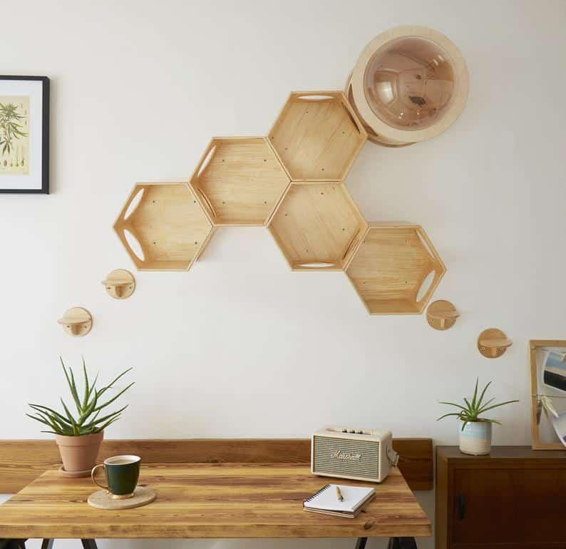 accessoire design mural hublot octogone