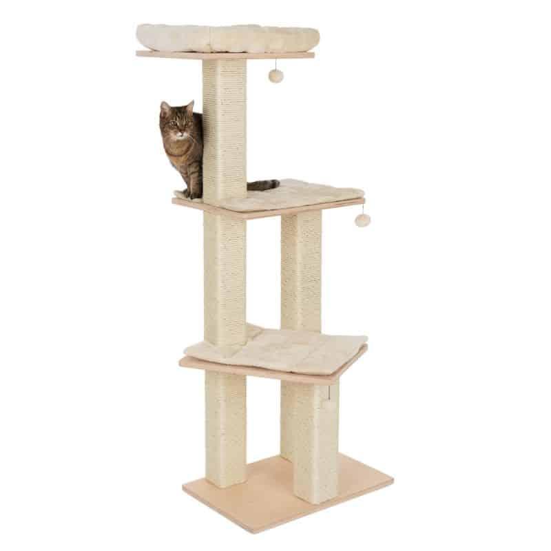 arbre a chat bois clair design plateformes simples