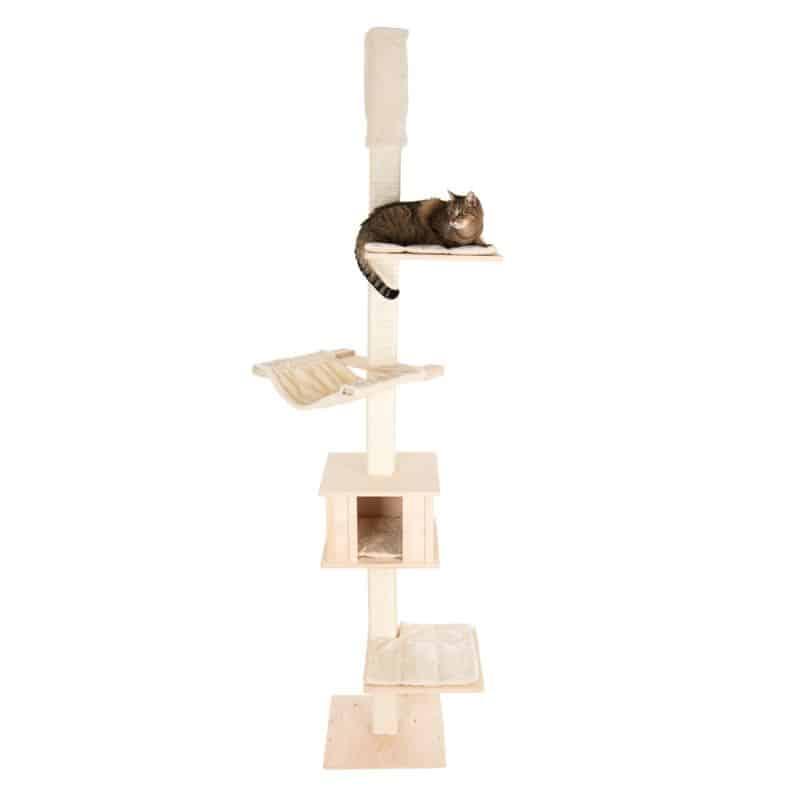 arbre a chat bois clair design sous plafond