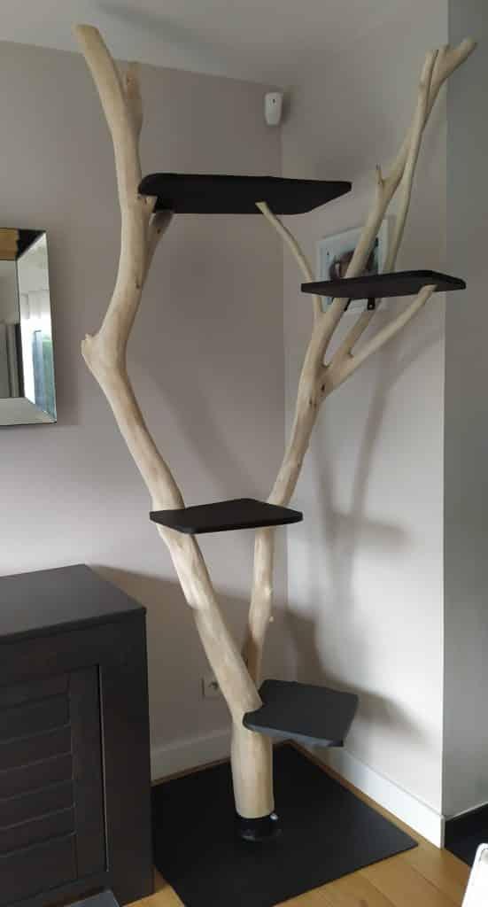 arbre a chat design geant blanc en branches