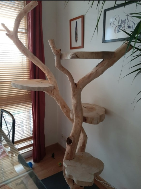 arbre a chat design luxe naturel 4 plateformes