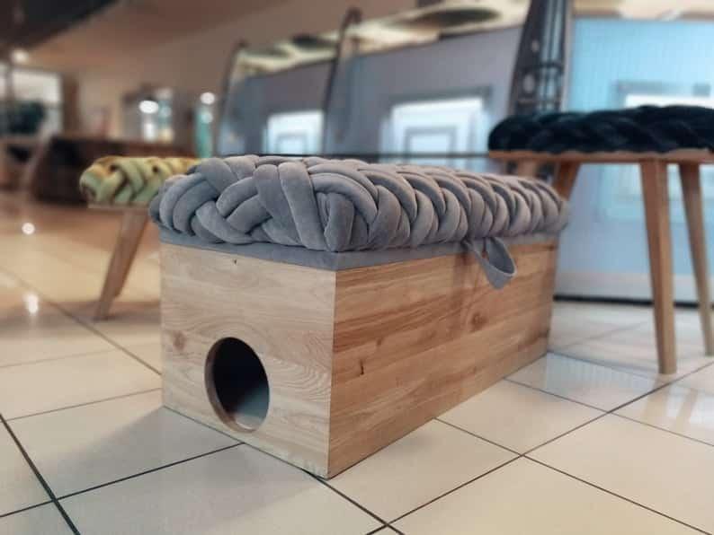 banc pour chat presence de tissu
