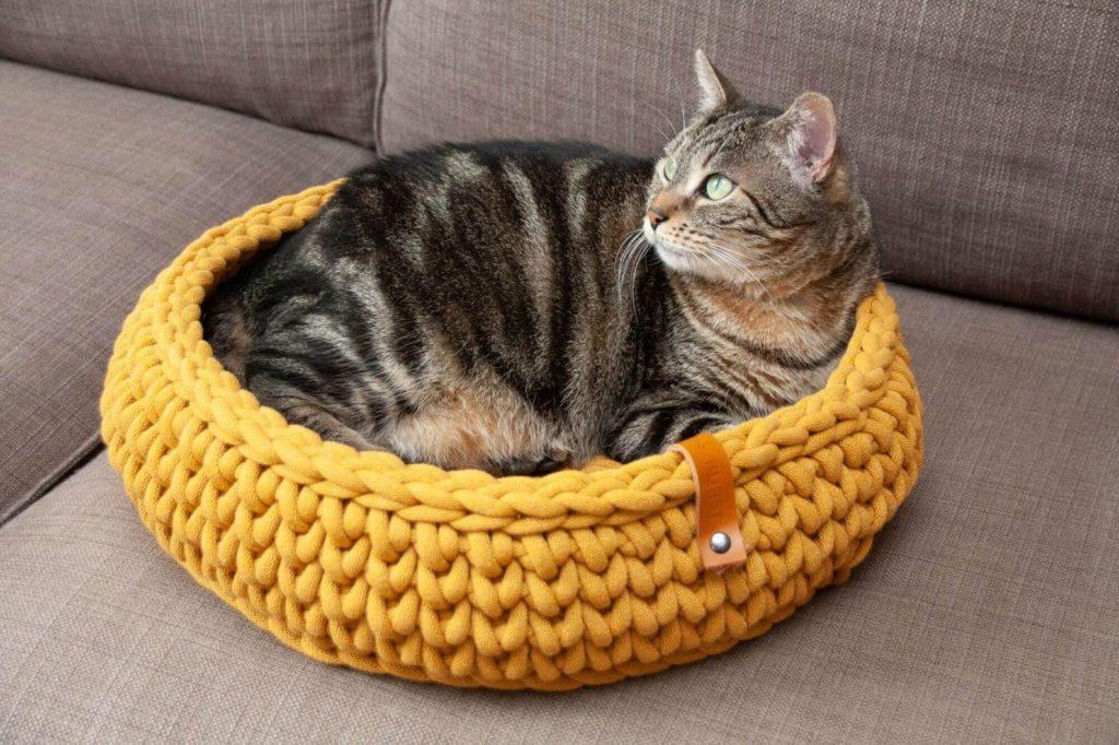 coussin design laine pour chat