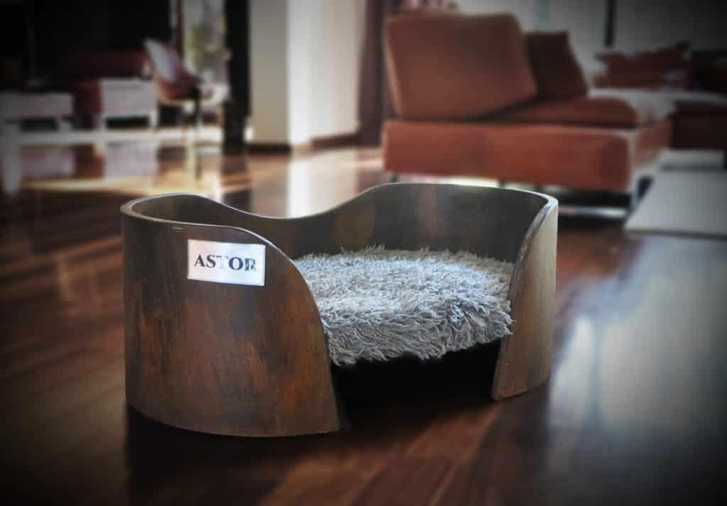 lit pour chat design avec fourrure