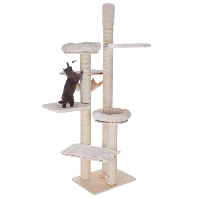 arbre a chat geant design largeur 1m20 hauteur 2m60