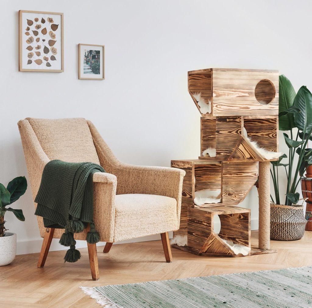 arbre a chat tout en bois massif