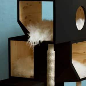 arbre a chat design couleur noir