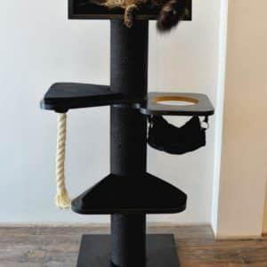 arbre a chat noir corde blanche