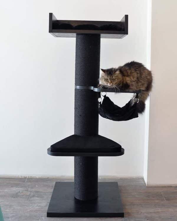 arbre a chat uni hamac noir