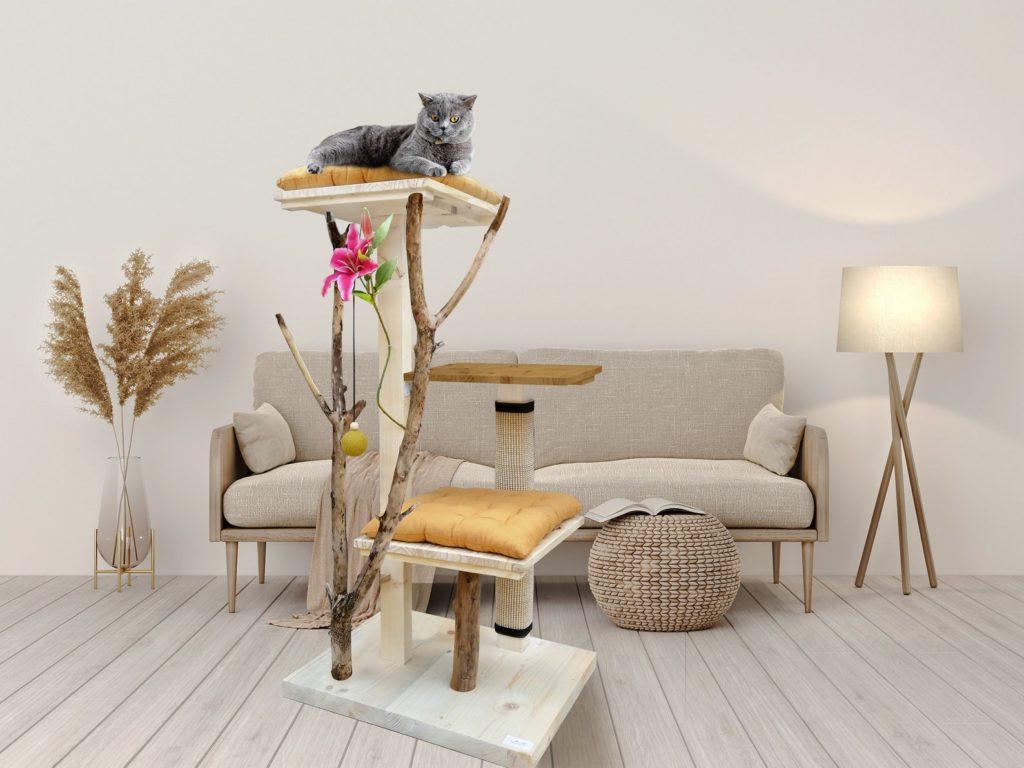arbre a chat construit a la main rare