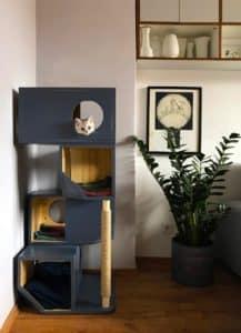 arbre a chat design cube irregulier modulaire couleur